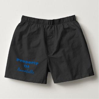 Eigentum von personalisiertem Herren-Boxershorts
