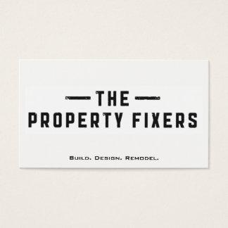 Eigentums-Fixiermittel-Weiß-Visitenkarte Visitenkarte