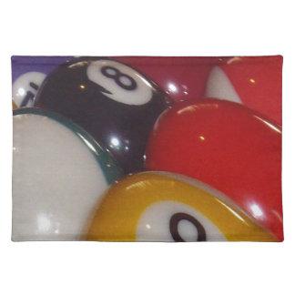 Eightball die traditionellen Farben, Stofftischset