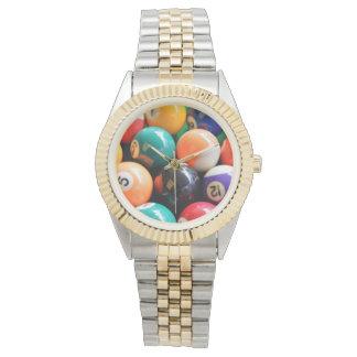 Eightball die traditionellen Farben, Uhr