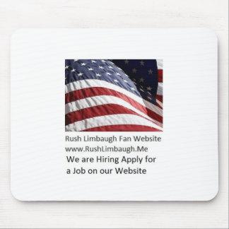 Eile limbaugh Fanwebsite-Mausunterlage Mousepad