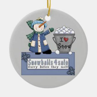 Eimer Schneebälle für Verkauf Keramik Ornament