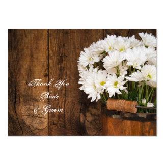 Eimer und Gänseblümchen-Land-Hochzeit danken Ihnen Karte
