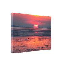 Ein Abend am Meer Gespannte Galerie Drucke