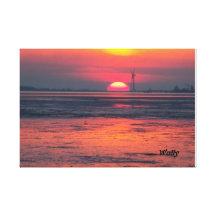 Ein Abend am Meer Leinwand Drucke