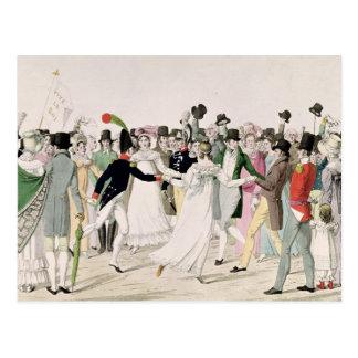 Ein Abend beim Tuileries im Juli 1815 Postkarte