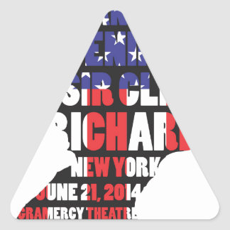 Ein Abend mit Sir Cliff Richard Dreieckiger Aufkleber