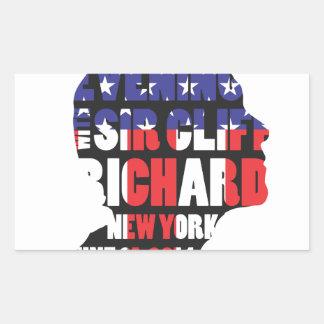 Ein Abend mit Sir Cliff Richard Rechteckiger Aufkleber