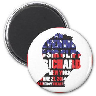Ein Abend mit Sir Cliff Richard Runder Magnet 5,7 Cm