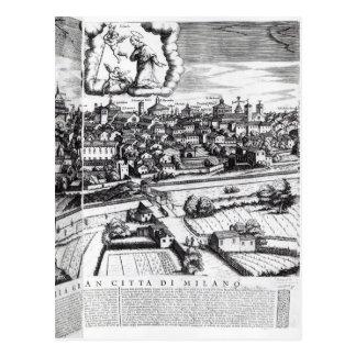 Ein Abschnitt einer Karte von Mailand, 1640