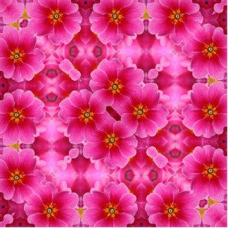 Ein abstraktes rosa Orchideenmuster Freistehende Fotoskulptur