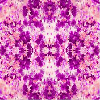 Ein abstraktes rosa pinkfarbenes Muster Freistehende Fotoskulptur