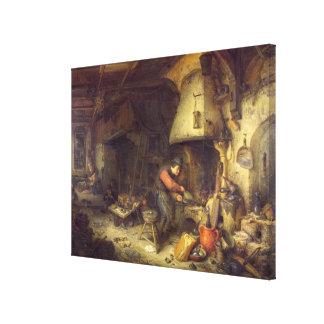 Ein Alchemist, 1611 Gespannter Galerie Druck