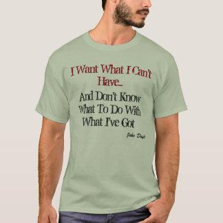 Ein allgemeines Frustration T-Shirt. T-Shirt