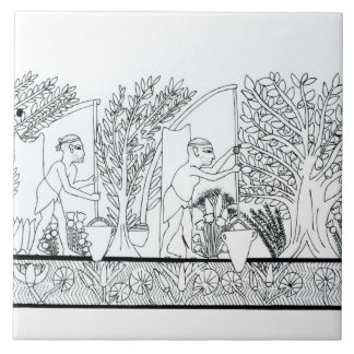 Ein alter ägyptischer Garten (Stich) (b/w Foto) Fliese