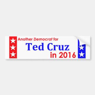 Ein anderer Demokrat für Ted Cruz 1016 Autoaufkleber