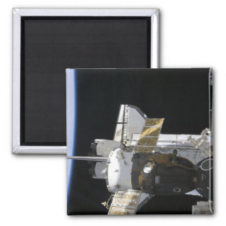 Ein angekoppeltes Soyuz Raumfahrzeug Quadratischer Magnet