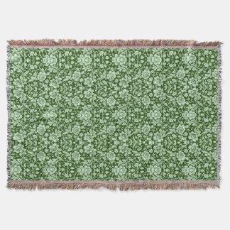 Ein antiker Blumendamast Decke