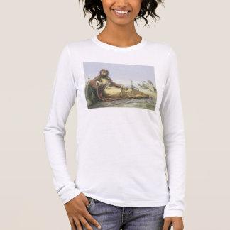 Ein arabisches Stillstehen in der Wüste, Langarm T-Shirt
