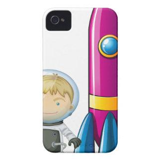 Ein Astronaut neben einer Rakete iPhone 4 Etuis