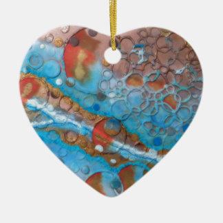 Ein atemberaubender einzigartiger abstrakter keramik ornament