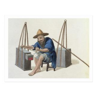 Ein Ausbesserer des Porzellans, überziehen 28 'vom Postkarte