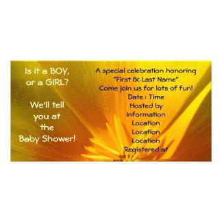 Ein Baby ein Baby? Finden Sie an der Babyparty her Foto Karten Vorlage