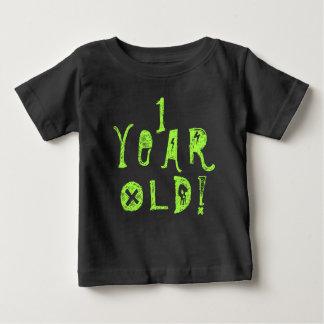 Ein Baby-Schädelfelsen des jährigen Geburtstages Baby T-shirt