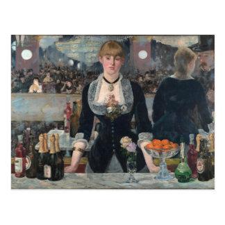 Ein Bar beim Folies-Bergère durch Édouard Manet Postkarten