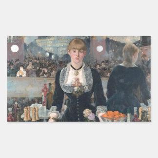Ein Bar Edouard Manets beim Folies-Bergère Rechteckiger Aufkleber