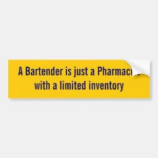 Ein Barkeeper ist ein Apotheker-Aufkleber Autoaufkleber