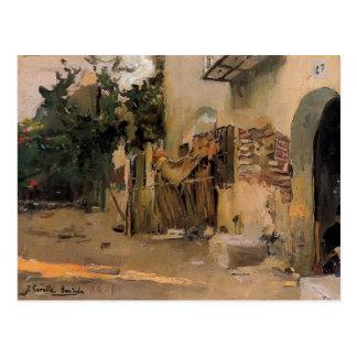 Ein Bauernhaus in Valencia durch Joaquín Sorolla Postkarte
