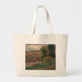 Ein Bauernhof in Bretagne - Paul Gauguin Jumbo Stoffbeutel