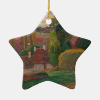 Ein Bauernhof in Bretagne - Paul Gauguin Keramik Stern-Ornament