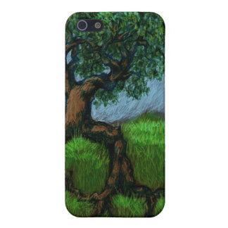Ein Baum auf einem Hügel iPhone 5 Case