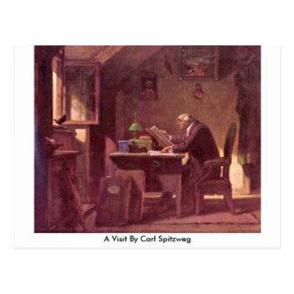 Ein Besuch durch Carl Spitzweg Postkarte