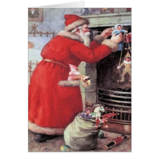 Ein Besuch von Sankt Nikolaus Karte