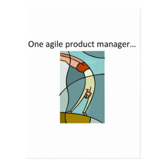 Ein beweglicher Produkt-Manager… Postkarte