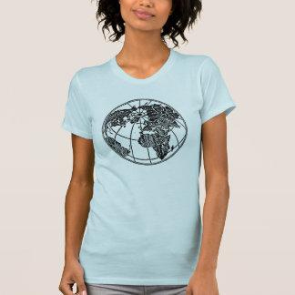 Ein Bild der Weltkugel Afrika asiatisch-europäisch T-Shirt