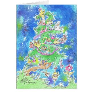 Ein Bild eines Weihnachtsbaums auf einer Karte