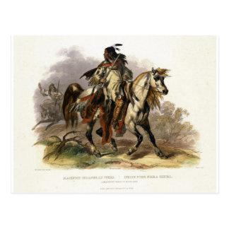 Ein Blackfoot Inder zu Pferd, überziehen 19 von Postkarte