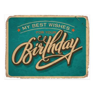 Ein blauer Geburtstag Postkarten