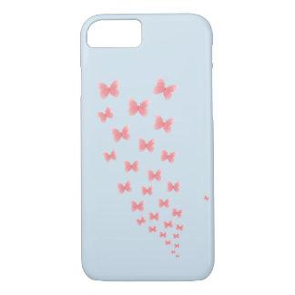 Ein blauer Iphone 7 Kasten mit Aquarell butteflies iPhone 8/7 Hülle