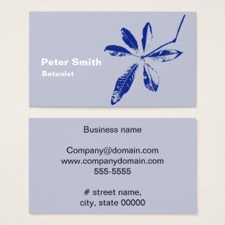 Ein blaues Blatt Visitenkarte