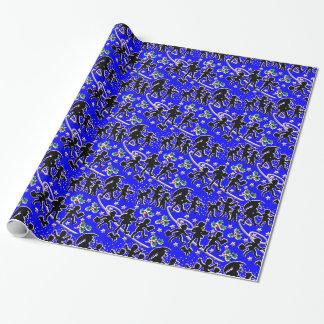 Ein blaues Weihnachten im Regen-Packpapier Geschenkpapier