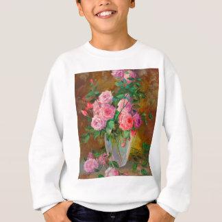 Ein Blumenstrauß der Rosen im Vase Sweatshirt