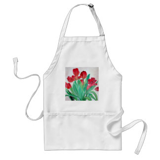 Ein Blumenstrauß der roten Tulpen Schürze