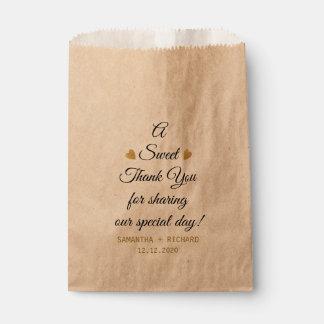 Ein Bonbon danken Ihnen Hochzeit Geschenktütchen