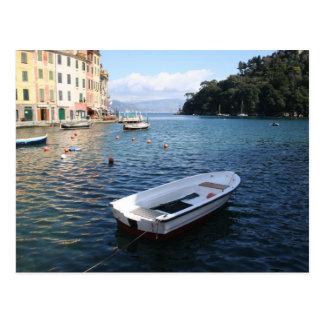Ein Boot in Portofino Italien Postkarte
