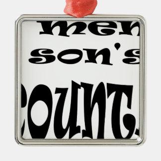 ein Buchhalter des Sohns Silbernes Ornament